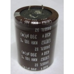 KMH450VN391M Capacitor,snap lock can 390uf 450v 35x45 mm. Mfg: Chemicom