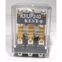 KRUP240 Relay, 3pdt 13a, 220vac coil, Kest