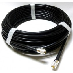 L400UFUMUM-3  Pre-made Cable Assembly, 3 foot LMR400UF Cable with PL259 installed on both sides