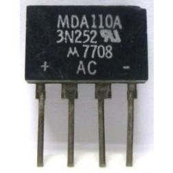 MDA110A  Diode, Bridge Rectifier, MDA110A / 3N252 / ECG170, Motorola or ECG
