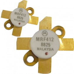 MRF412MP NPN Silicon RF Power Transistor, Matched Pair, 70 W (PEP or CW), 30 MHz, 13.6 V, Motorola