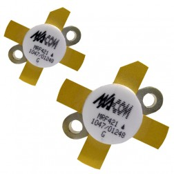 MRF421MP-MA NPN Silicon Power Transistor, Matched Pair, 100 W (PEP), 30 MHz, 12 V, M/A-COM