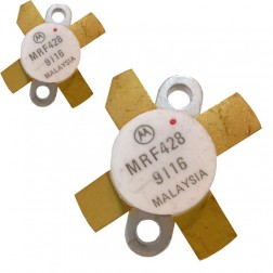 MRF428MP-MOT NPN Silicon Power Transistor, Matched Pair, 150 W (PEP), 30 MHz, 50 V, Motorola