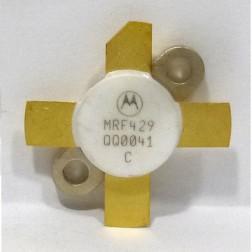 MRF429-MOT NPN Silicon Power Transistor, 150 W (PEP), 30 MHz, 50 V, Motorola