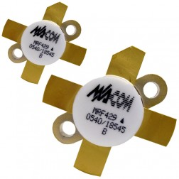 MRF429MP-MA NPN Silicon Power Transistor, Matched Pair, 150 W (PEP), 30 MHz, 50 V, M/A-COM