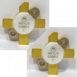 MRF429MP-MOT NPN Silicon Power Transistor, Matched Pair, 150 W (PEP), 30 MHz, 50 V, Motorola
