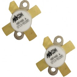 MRF448MP-MA NPN Silicon Power Transistor, Matched Pair, 250 W, 30 MHz, 50 V, M/A-COM