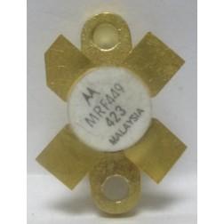 MRF449 NPN Silicon Power Transistor, 30 W, 30 MHz, 12.5 V, Motorola