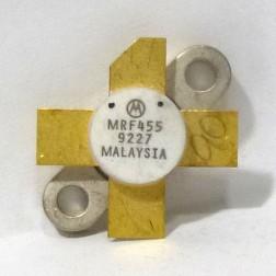 MRF455-MOT  NPN Silicon Power Transistor, 60 W, 30 MHz, 12.5 V, Motorola