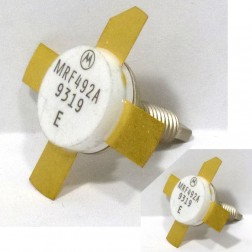MRF492AMP NPN Silicon RF Power Transistor, Matched Pair, Stud Mount, 50 MHz, 70 W, 12.5 V, Motorola