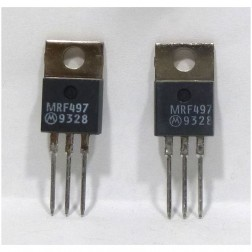 MRF497MP NPN Silicon RF Power Transistor, Matched Pair, 40 Watt, 50 MHz, 12 volt, Motorola (Can replace MRF477)