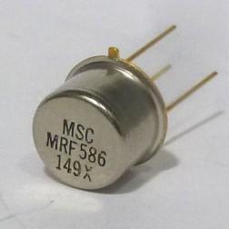 MRF586-MSC RF & Microwave Discrete Low Power NPN Silicon Transistor, Microsemi