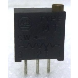 "MT2W101 3/8"" Square Trimpot Trimming Potentiometer, 100 ohm, 0.5 watt, 10% Tol, Allen Bradley"
