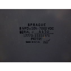 P47729 Capacitor, Heavy Duty Filter, 8 mfd 7kvdc 10%, Sprague
