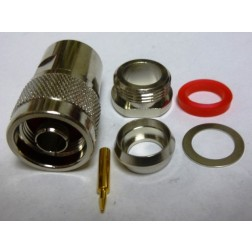 PE4062 Type-N Male Clamp Connector, RG8 / 11 / 213 / 214 / 393, Cable Group: E, F, E75