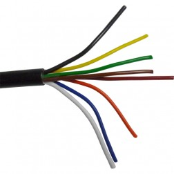 RCEH14/18  Rotor Cable, 8 wire, 2-14 ga/ 6-18 ga, Black Jacket