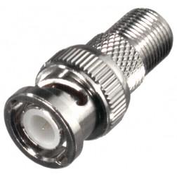 RFB1155 BNC Between Series Adapter, BNC male to F female, RF Industries