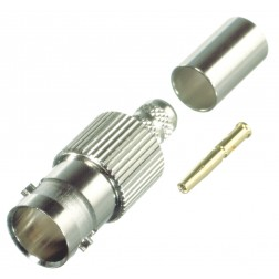 0-RFB1724-Q  BNC Female Crimp Connector, 75 Ohm, Cable Group Q, RFI