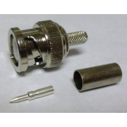 202021  BNC Male Crimp Connector, Cable Group C, AVA Corp