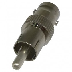 RFB1140 BNC Between Series Adapter, BNC Female to RCA Male, RF Industries
