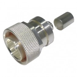 RFD1604-2L2 7/16 DIN Male Crimp Connector, Cable Group L2, LMR600, RF Industries