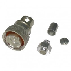 RFD1605-2E  7/16 DIN Male Crimp Connector, Cable Group E, F, I, PL,  (Straight or Right Angle) RF Industries