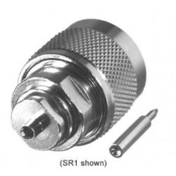 0-RFN1005-1SR2  Type-N Male Connector, 0.141 Semi Rigid, RFI