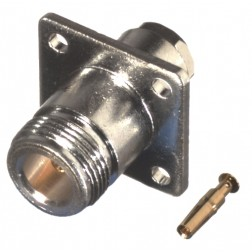 RFN1021-6 Type-N Female, 4 Hole Panel Mount, Clamp Connector, Cable Group C, C1,  RF Industries