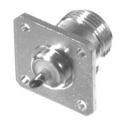 RFN1021 Type-N Female Chassis Connector, 4 Hole Panel, Solder Cup, RFI
