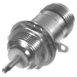 0-RFN1022-3  Type-N Female Bulkhead Chassis Connector, Long Front Mount, RFI