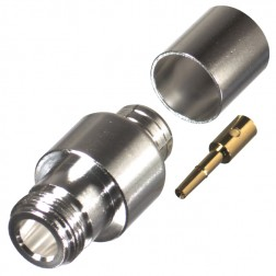 0-RFN1028-2L2 Type-N Female Crimp Connector, Cable Group L2, RFI
