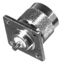 0-RFN1041-1  Type N Male 4 Hole Panel Mount Chassis Connector, RFI