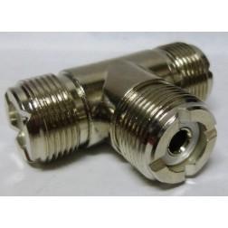 RFP412  IN Series TEE Adapter, Triple Female(SO239)