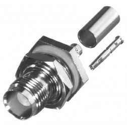 RFT1212 TNC Female Crimp Bulkhead Connector,  RFI