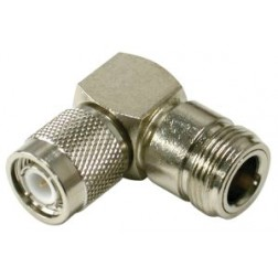 RFT1234-11 Between Series Adapter, TNC Male to Type-N Female, Right Angle, RFI