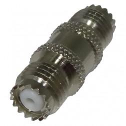 0-RFU629 IN Series Adapter, Mini-UHF Female to Female Barrel, Straight, RFI