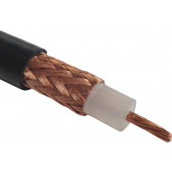 RG213/U Coax Cable, Flexible, Stranded Center Conductor, Belden