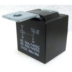 RL5M  - Relay SPDT 40 amp sealed, Plastic Case with Metal Mounting Tab