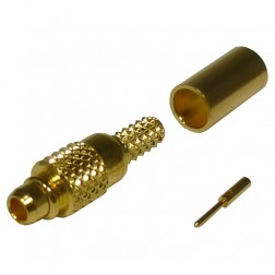RMX9000-1B Connector, MMCX Plug, Male Crimp, Cable Group B. RG316, RG174,  RF Industries