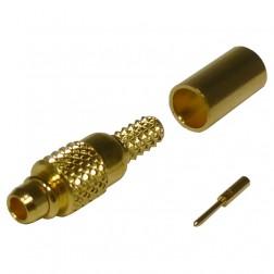 RMX9000-1B Connector, MMCX Plug, Male Crimp, Cable Group B. RG316, RG174,  RF Industries