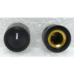 RN201F-2L  Knob, Round Black w/White Pointer, Raytheon