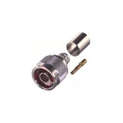 RP1006-3I Connector, Type N Reverse Polarity Male Crimp, Cable Group I, RG8, 9913, LMR 400 RF Industries
