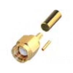 RP3000-1X Connector, SMA Reverse Polarity Male Crimp,  Cable Group X. RG8X, LMR240. RF Industries