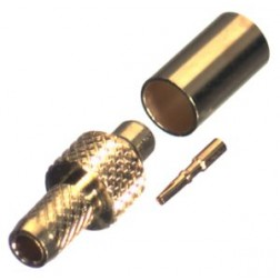 RP9000-1B Connector, MMCX Reverse Polarity male Crimp,Cable Group B. RG316, RG174 RF Industries