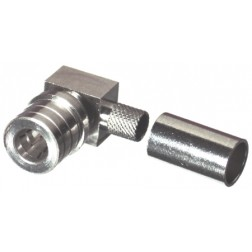 RQA5010-X QMA Male Crimp Connector, Right Angle, Cable Group X, RFI