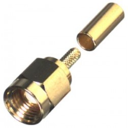0-RSA3000-1B SMA Male Crimp Connector, Cable Group B, RFI