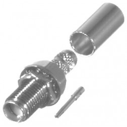 RSA3252-C1 SMA Female Bulkhead Crimp Connector, Cable Group: C1, RFI