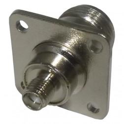 RSA3290-10 Between Series Adapter, SMA Female To Type-N Female, RFI