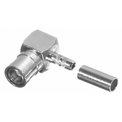 RSB4010-B Right Angle SMB Male Crimp Connector, Cable Group B, RFI