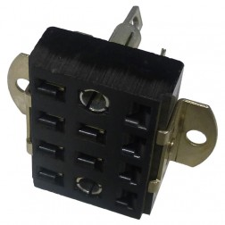 S312AB-S  -  12 Pin Cinch Connector Socket  w/Angle Brackets (Has 2 Larger Pin Holes) (Jones)